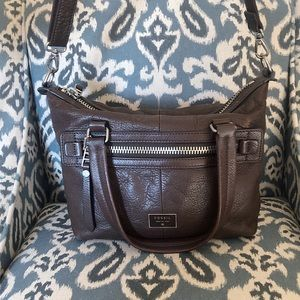 Fossil Brown Leather Crossbody Handbag